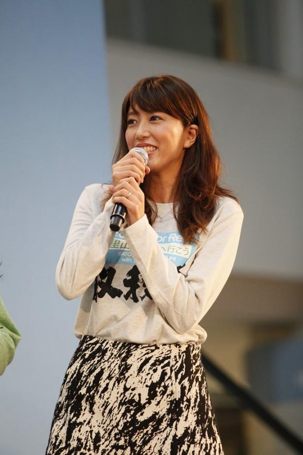 里田まいはアメリカ・ニューヨークから帰国しイベントに参加した