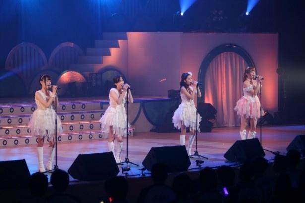 (左から)佐藤麗奈、三宅ひとみ、古橋舞悠、菊地亜美による「NA・GA・RA」