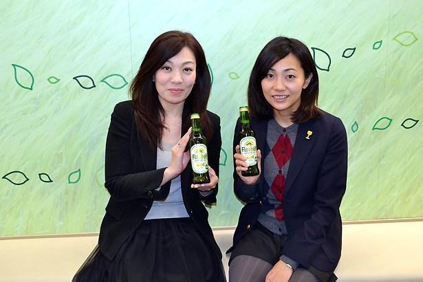 キリンビールマーケティング部・商品開発研究所・ 新商品開発グループの中川紅子さん(写真左)と渡辺美里さん(同右)