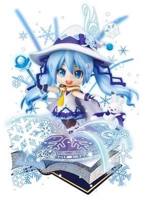 募集した衣装デザインはニコニコ生放送の視聴者の投票によって決定。画像は「ねんどろいど 雪ミク Magical Snow Ver.」