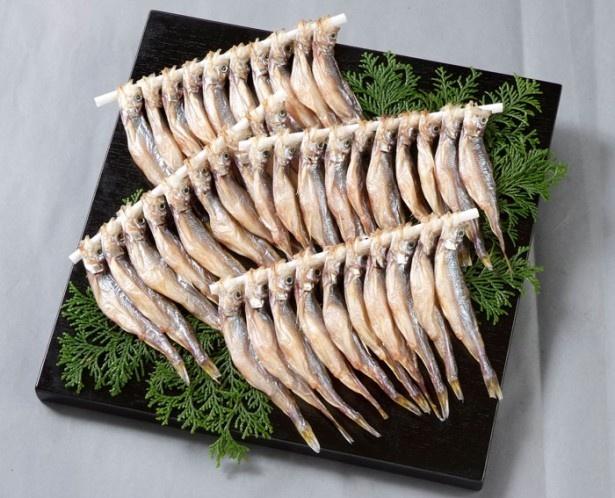シシャモの水揚げが盛んな釧路から、天日干しししゃも(釧路市漁協)