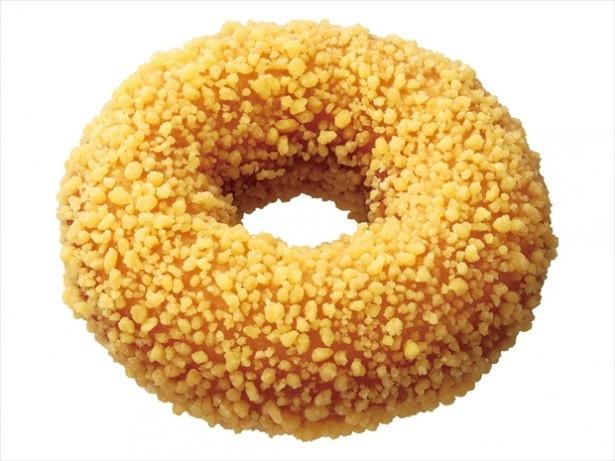 「バタークランチ」(118円)は、ほのかにバニラが香る、甘さ控えめでふんわりとした食感のケーキ生地に、カリカリとした食感のゴールデントッピングをまぶした