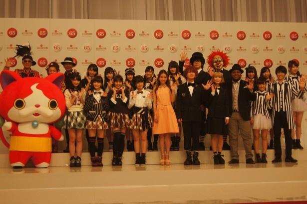 「第65回 NHK紅白歌合戦」の出場歌手の発表会見に出席したアーティスト