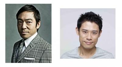 「妖怪ウォッチ2 真打」のテレビCMに出演した香川照之(左)と伊藤淳史(右)