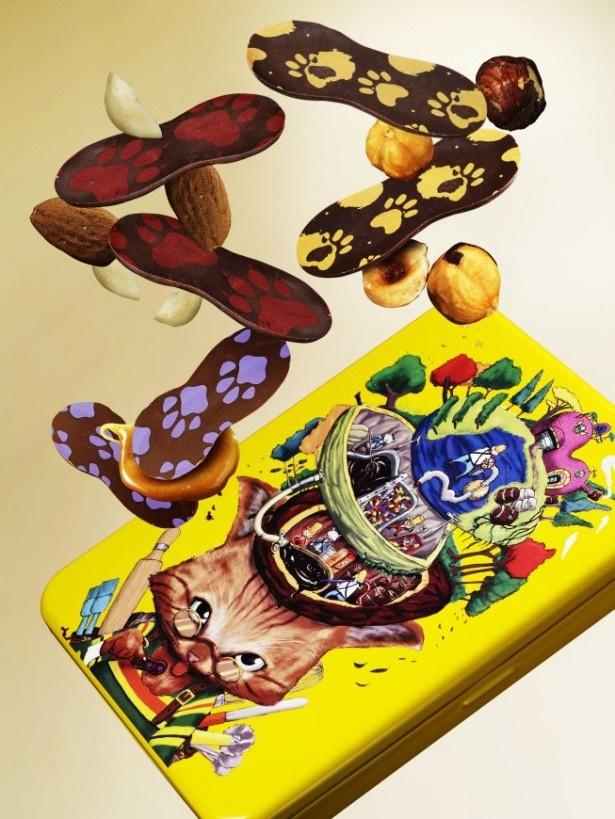 チョコレート工場に忍び込んだいたずら好きのネコをモチーフにした「The Story of Chocolate Factory」(2160円)
