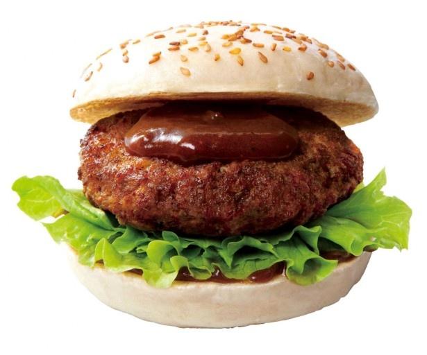 松阪牛、極上ソース、濃厚デミグラスソース、米粉バンズの奇跡の四重奏!美味極まる「松阪牛ハンバーグステーキバーガー(赤ワインポルチーニソース)」(1500円、ドリンクM付き)