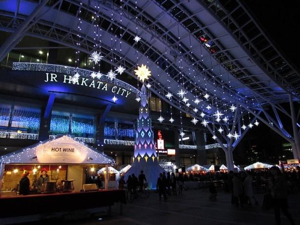 JR博多駅の博多口駅前広場にヨーロッパのクリスマスが登場!