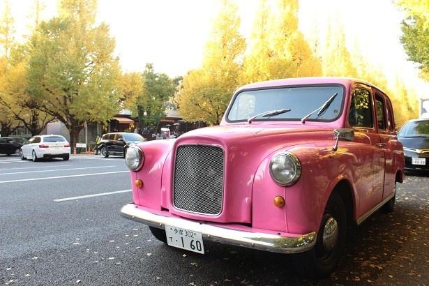 ロンドンタクシーをベースに作られた「ピンクのBifesTAXI(ビフェスタクシー)」