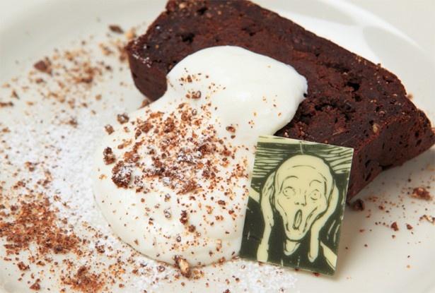 SKE48の谷真理佳が「気になる!」と注目していたカフェ ムンクでは、ムンクの「叫び」をモチーフにした芸術性溢れるメニューも用意