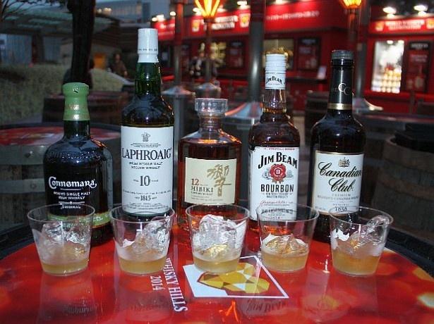 12月25日(木)まで六本木ヒルズで開催中の「WHISKY HILLS 2014」。さまざまなウイスキーを1杯200円から楽しめる