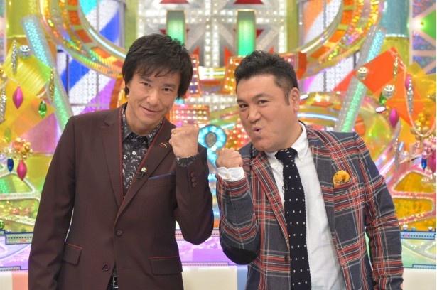 「ゴン中山&ザキヤマのキリトルTV」でMCを務める(写真左から)中山雅史と山崎弘也