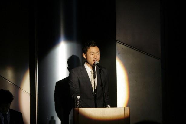 司会を務めた野上慎平アナは、真壁選手とのかけ合いで会見を盛り上げた