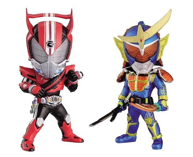 仮面ライダードライブと仮面ライダー鎧武がデフォルメフィギュア化