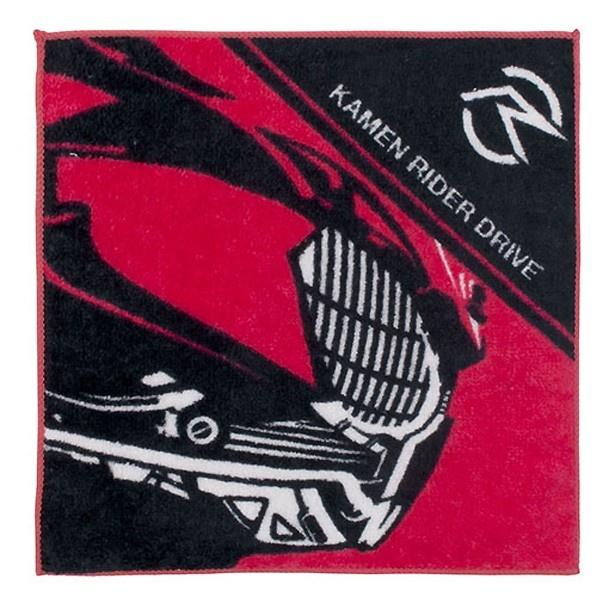 仮面ライダードライブの横顔を描いたハンドタオル
