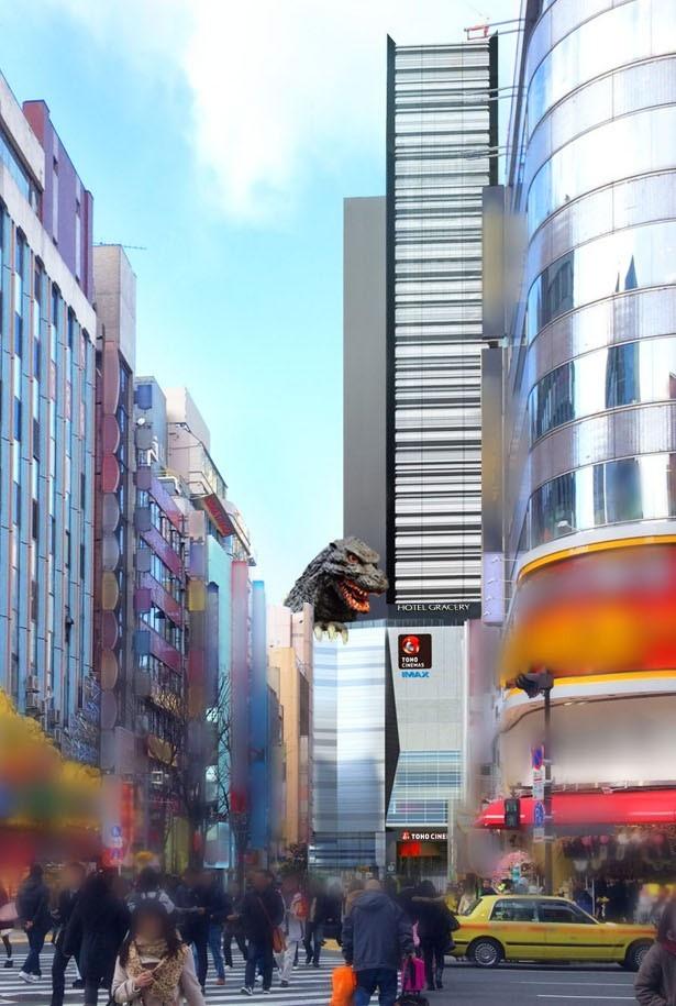 ゴジラヘッドは、新宿の新たなランドマークとなりそう