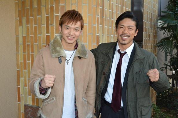 「ビンタ!」第11話・12話でドラマ初共演を果たした(写真左から)佐藤大樹と松本利夫