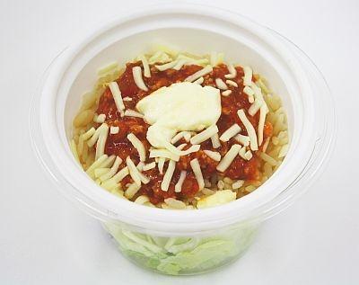 「タコライスサラダ」(330円)はおいしく野菜がとれる