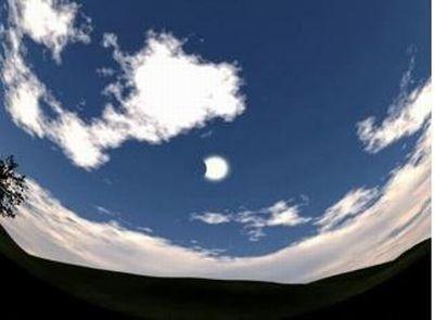 大画面で感動!実際の日食映像が見られる(写真はイメージ)