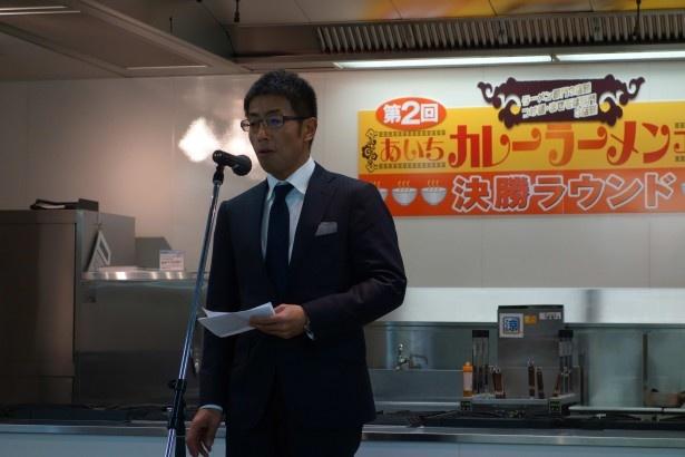 あいちカレーラーメン実行委員長・星野益八郎氏(株式会社オリエンタル)