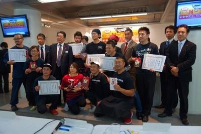 決勝ラウンド参加店主・特別審査員、来賓として森岡愛知県副知事も