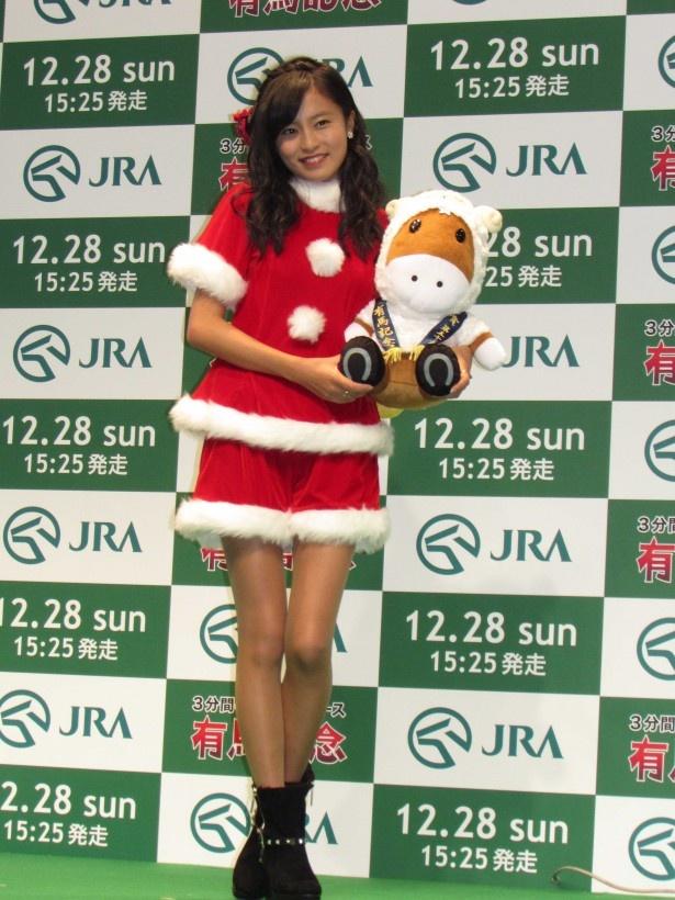 「ウルトラ有馬記念@AKIBA」出馬賞発表PRイベント「ウルトラ・トークセッション」に登壇した小島瑠璃子