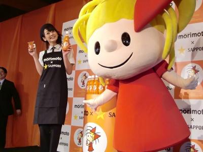 リボンちゃんと2009サッポロビールイメージガール美優紀さんも登場!