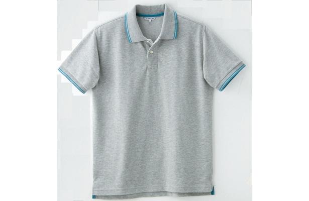 大型店だけのレアアイテム「ドライストレッチラインポロシャツ」(グレー)