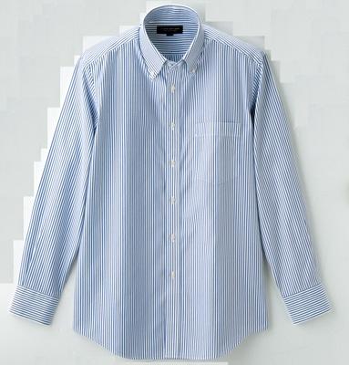 「スーパーノンアイロンシャツ」(ストライプ、3990円)
