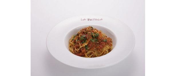 トマトソースにカニの身がたっぷり加わった蟹入りトマトソースのスパゲティー¥1365