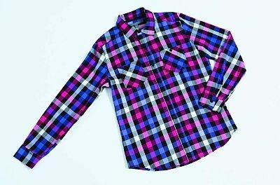ピンク&パープルの上級者カラー。メンズのチェックシャツ(2290円)