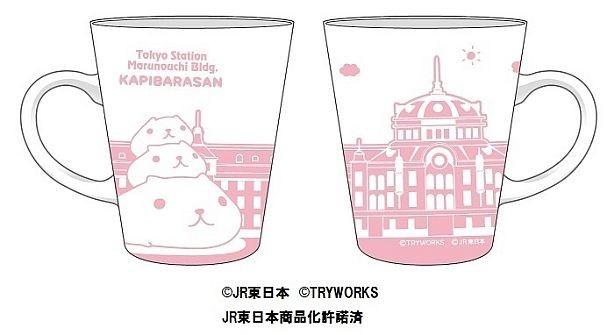 ホワイトとピンクのカラーリングがキュート!「マグカップ」(税抜1000円)