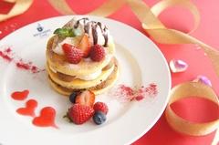大阪の人気カフェがバレンタイン限定パンケーキを販売