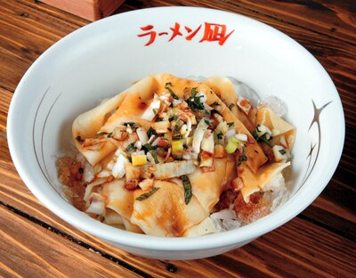 凪オリジナルの「麺刺(めんさし)」(500円)もぜひ味わってみて