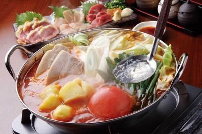トマト唐辛子鍋(¥1260・写真は2人前)