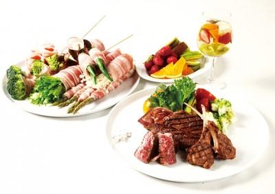 「肉びすとろ 熟 Jyuku」では、国産熟成肉や国産野菜が楽しめる