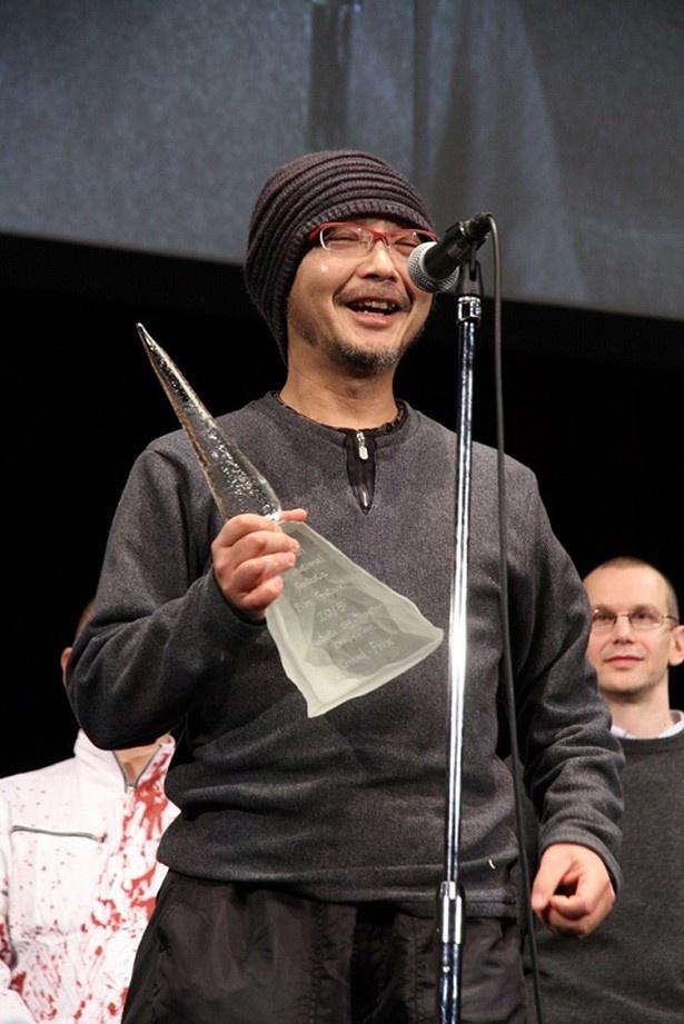 オフシアター・コンペティション部門でグランプリを受賞した森川圭監督