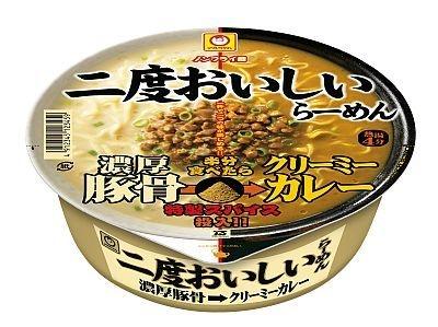 好評の第1弾「濃厚豚骨→クリーミーカレー」(199円)の商品画像