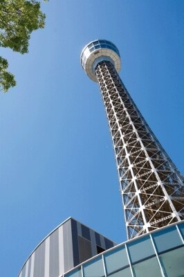 こちらは昼のマリンタワー。まだ敷地内には入っちゃダメなので気をつけてね!