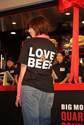 「LOVE&BEEF」という標語が気に入った井上さん