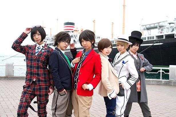 美少年探偵を演じる(左から)夢眠ねむ、相沢梨紗、古川未鈴、藤咲彩音、最上もが、成瀬瑛美