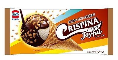 3月発売「クリスピーナ Joyful」はサクサクコーンとアイスが濃厚な食べ応え(105円)