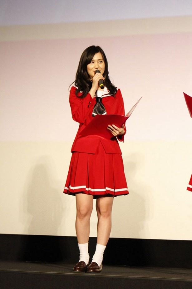 自身が演じる京子について、「少々荒いところもありますが…心の中心は優しい子なんです」と紹介したM・A・O