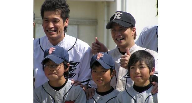 二子玉川スポーツ少年団のチームの小学生たちも大感激