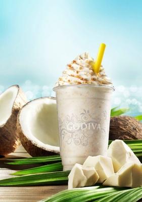 「ショコリキサー 復活総選挙」参加フレーバーの「ホワイトチョコレート ココナッツ」(2012年5月発売)。2つの味わいのココナッツを楽しめるショコリキサー