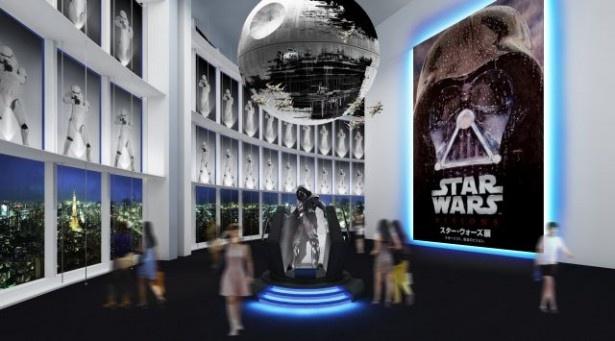 「スター・ウォーズ展 未来へつづく、創造のビジョン。」は4月29日(水・祝)から6月28日(日)までの期間、六本木ヒルズ展望台東京シティビュー内スカイギャラリーにて開催 ※イメージ