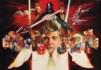 【写真を見る】スター・ウォーズの原点を象徴するアートが盛りだくさん!