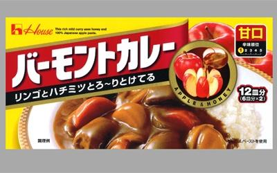 「リンゴとハチミツとろ〜りとけてる」でおなじみ「バーモントカレー」(甘口)