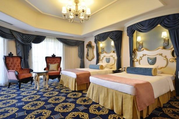 東京ディズニーランドホテルの新しい客室「ディズニーシンデレラルーム」。ディズニー映画「シンデレラ」をテーマにしている