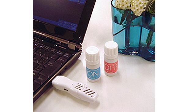 PCのUSBに挿して香りを楽しむ「USB aroma time」(2300円)
