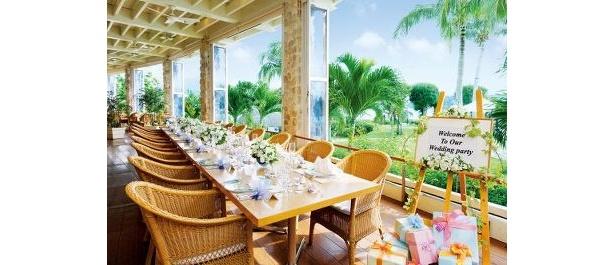 ホテル内のバンケットでパーティも可能。沖縄料理でおもてなし